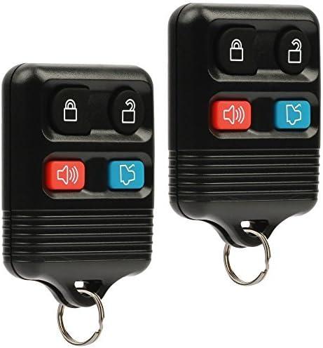 Car Key Fob Keyless Entry Remote fits Ford, Lincoln, Mercury, Mazda (CWTWB1U331 GQ43VT11T CWTWB1U345 4-btn, Set of 2)