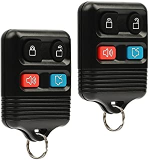 Key Fob Keyless Entry Remote fits Ford, Lincoln, Mercury, Mazda Mustang Explorer Escape Focus Fusion Taurus , Set of 2)