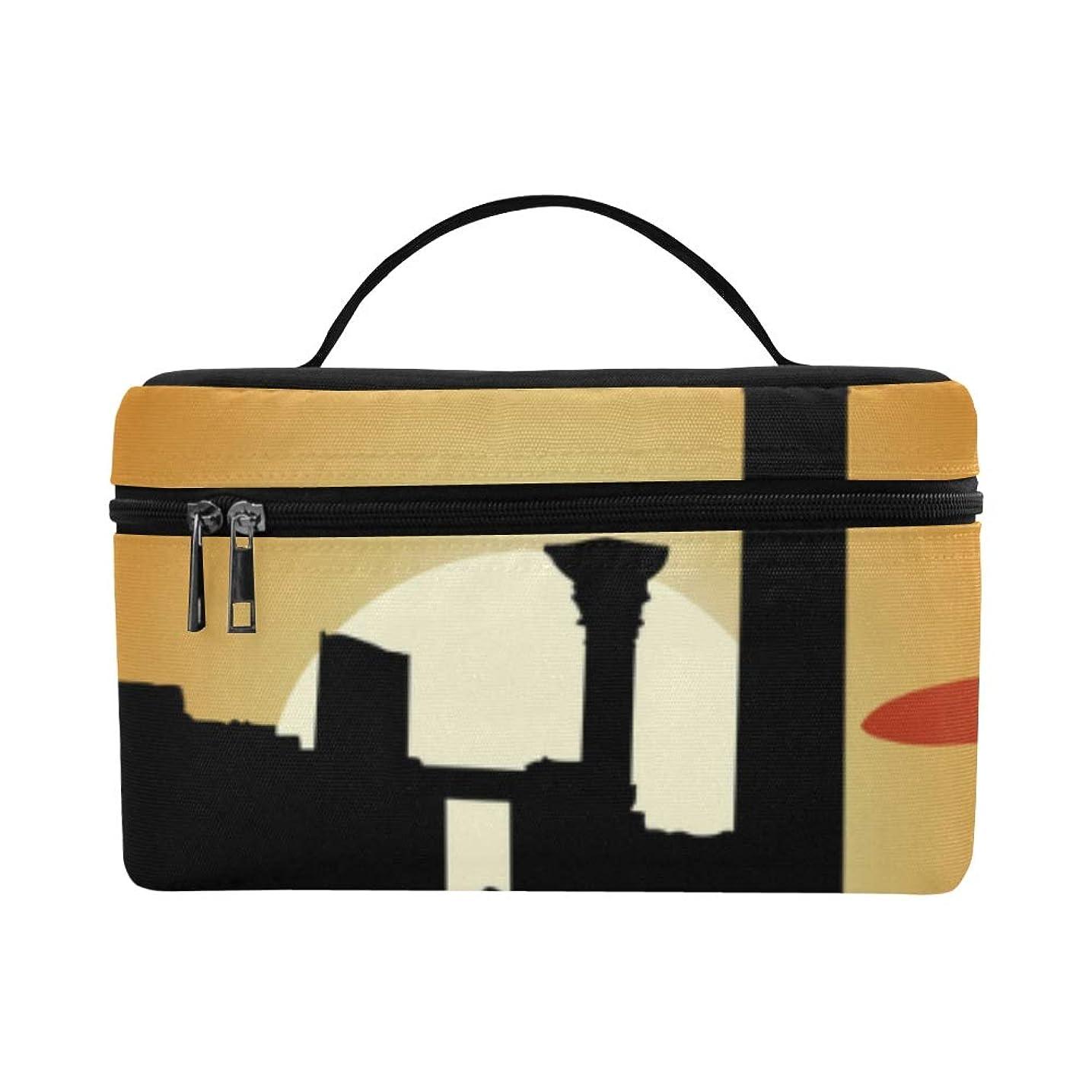 しばしば不条理楽観GXMAN メイクボックス ローマの建築 コスメ収納 化粧品収納ケース 大容量 収納ボックス 化粧品入れ 化粧バッグ 旅行用 メイクブラシバッグ 化粧箱 持ち運び便利 プロ用