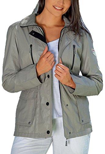 ROADSIGN - Damen Jacke, Kiesel (beige), sportlich-elegant (Wetterjacke), Gr. 42