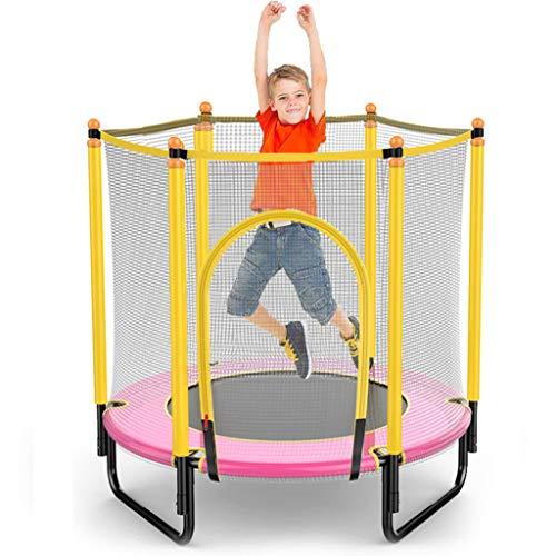 LXXTI 4ft Trampoline for Kids Outdoor, Trampoline with Net, Trampoline for Kids with Safety Enclosure Net, Built-In Zipper Heavy Duty Frame, for Kids Outdoor,Pink