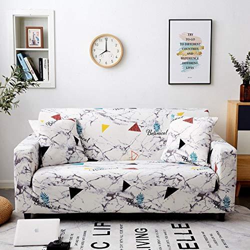 Funda para sofá Funda elástica para sofá Sillón Sofá Funda de Licra para Esquina de Sala de Estar Sofá seccional en Forma de L A14 3 plazas