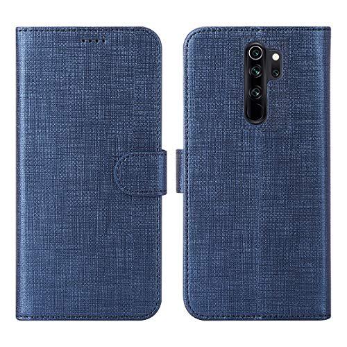 CRESEE für Xiaomi Redmi Note 8 Pro Hülle Hülle, PU Leder Tasche mit 3 Kartenfächer, Magnetverschluss Schutzhülle Flip Cover Standfunktion Stoßfest Brieftasche Handyhülle für Redmi Note 8 Pro (Blau)