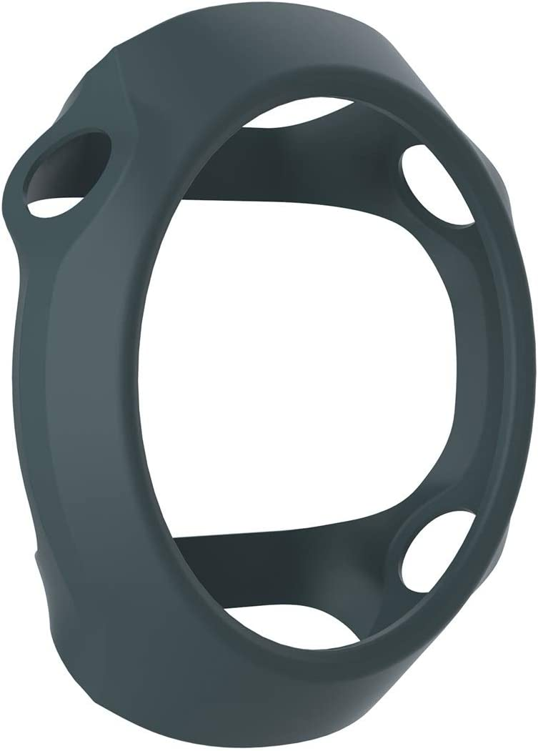 WATCHCASE/Funda Protectora de Silicona de Reloj Inteligente para Garmin Forerunner 610, La decoración de la Moda Protege el Marco del re (Color : Cyan)