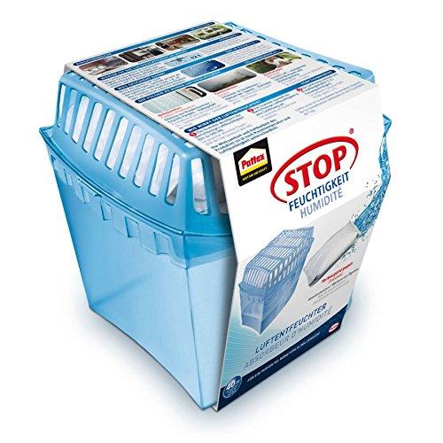 Pattex PULGS Stop Feuchtigkeit Universal Gerät/Räume bis 40 M³/ Raumentfeuchter wiederverwendbar gegen Schimmel und Unangenehme Gerüche/inkl. 1 x 450 G Granulat Kissen