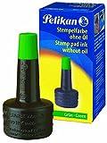 Pelikan 351239 - Tinta de sello 4K sin ACeite, 28 ml, adecuado para todos los sellos de oficina, verde