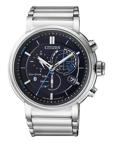 Citizen heren chronograaf solar horloge met roestvrij stalen armband BZ1001-86E