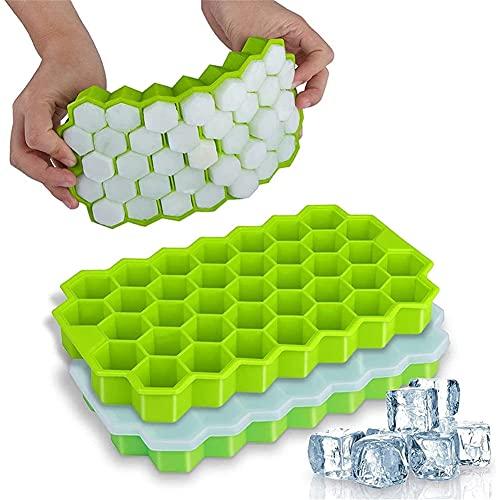 37 holtes Multicolor Honeycomb-trays, met verwijderbare deksels silicagelijs ijsmasseer, DIY ijs mal keuken accessoires
