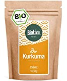 Kurkuma-Pulver Bio 1000g - hochwertige Kurkumawurzel (Curcuma) gemahlen - Superfood -Abgefüllt und kontrolliert in Deutschland (DE-ÖKO-005)