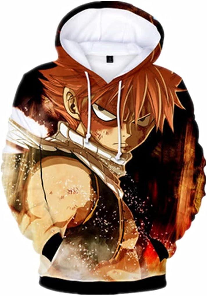YUXIMSPD Fairy Tail Naruto Long Sleeve Sweatshirt 3D Pullover Hoody