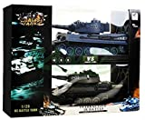 Infrared Battle Tank T-34 vs Tiger September - 2 pieces in the set - remote-controlled tanks with sound and light - armored September - Panzer tank military vehicle model 01:28