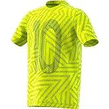 adidas Messi Icon Jersey Camiseta, Niños, Amarillo (Solar Yellow), 164 (13/14 años)