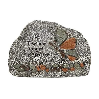 Roman Garden - Butterfly Garden Stone, 5.5H, Garden Collection, Resin and Stone, Decorative, Garden Gift, Home Outdoor Decor, Durable, Long Lasting