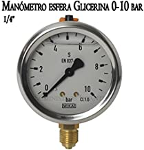 /5//25bar Blanca para manguera de ama Man/ómetro Isometrico Alla Glicerina c/ónico 0/