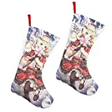 Pummbaby Christmas Xmas Cute Rabbit Ears Girlmerry Christmas Stockings Xmas Socks Ornament Themed 10 Inch Double 2pcs Large Pair Formal Unique Female Male Hanger Pole