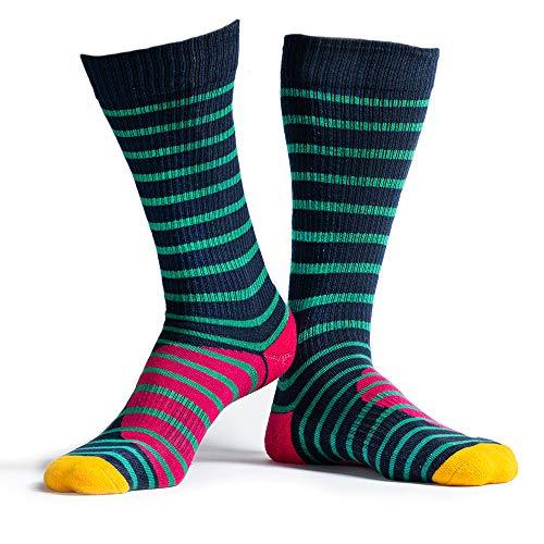 RideMore - Skatesocken Herren und Damen | bunte gemusterte lange Socken für Skater und Sportler (Fufanu stripes,40-46)