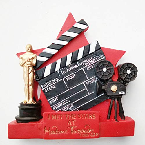 shenlanyu Imanes de nevera imán de recuerdo de la película Óscar Imanes para refrigeradores La estatuilla del Oscar de resina, imanes para nevera, decoración del hogar vintage