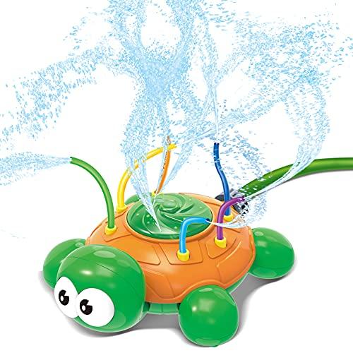 JOYIN Wassersprinkler Spielzeug Hydro Swirl Spinning Splash Turtle für Kinder Outdoor Wasserspielspaß