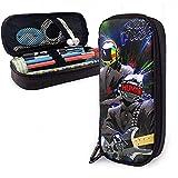 Daft Punk Art Unisex Estuche de lápices para niños Estuche de lápices Bolso de papelería con cremallera Bolsos de lona con errores para niñas Niño