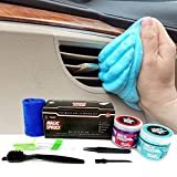 Car Cleaning Gel for Auto Interior Dust Removal Kit, Car Detailing Laptop Keyboard Cleaner Scented Putty, Air Vent Cleaner with 2 pots 160g Each, 4 Anti-Static Detailing Brushes Tools by ToysButty