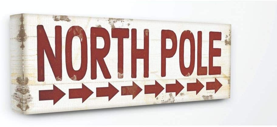 Max 42% OFF Stupell Industries North Pole Sign Christmas All stores are sold Holiday Word De Red