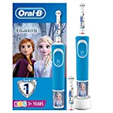 Oral-B Kids Rechargeable Electric Toothbrush by Braun, 1 Handle Disney Frozen 2, 3 Years and Up