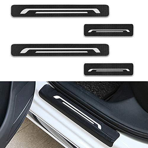 Auto Portiera Scuff Guard Plate Sill Esterno Adesivi Davanzale Accessori Styling N//A 4 Pezzi Car Battitacco Protezione Acciaio Inox Soglia della Porta per Ford Ecosport 2012-2019