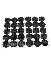 30 Stks Circulaire Zwarte Antislip Zelfklevende Rubber Voeten Pads Beschermers Meubels voor Kasten Kleine Apparaten Elektronica Fotolijsten Meubellades Kasten