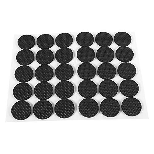 30Pcs Circular Schwarz rutschfeste selbstklebende Gummifüße Pads Protektoren Möbel für Schränke Kleingeräte Elektronik Bilderrahmen Möbel Schubladen Schränke