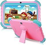 Tablet para Niños con WiFi Bluetooth 7 Pulgadas 1024x600 Tablet Infantil de Android 9.0 Quad Core 2GB 16GB Doble Cámara Kid-Proof Funda ZONKO Tablet Niños Educativo Rosa