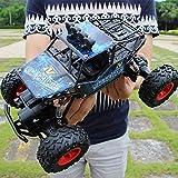 28cm alliage hors-route télécommande 4 roues motrices à grande vitesse RC Car Boy Big Foot Escalade Racing Jouets for enfants Crawlers Buggy Monster Trucks Rechargeables Jouets Hobby (Couleur: Bleu) l