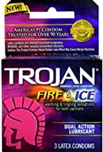 TROJAN Fire & Ice Condoms Lubricated Latex 3 Ct
