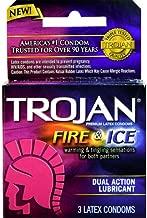 TROJAN Fire & Ice Condoms Lubricated Latex 3 Ct