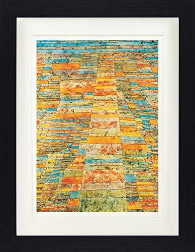 1art1 Paul Klee - Hauptweg Und Nebenwege, 1929 Gerahmtes Bild Mit Edlem Passepartout | Wand-Bilder | Kunstdruck Poster Im Bilderrahmen 40 x 30 cm