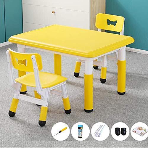 Children's studie bureau Onderliggende tafel Kruk Peuter Tafels Stoelen Safety Game Eettafel hoogte verstelbaar Portable School Kleuterschool, 5 kleuren (Children's studie tafel en stoel set