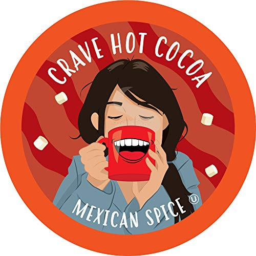 Crave Hot Chocolate Compatible with 2 K-Cup Brewers, Mexican Spice Cocoa, 40 Count