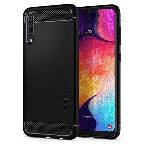 Spigen Funda Rugged Armor Compatible con Samsung Galaxy A50 y Compatible con Samsung Galaxy A30a y Compatible con Samsung Galaxy A50s - Negro Mate