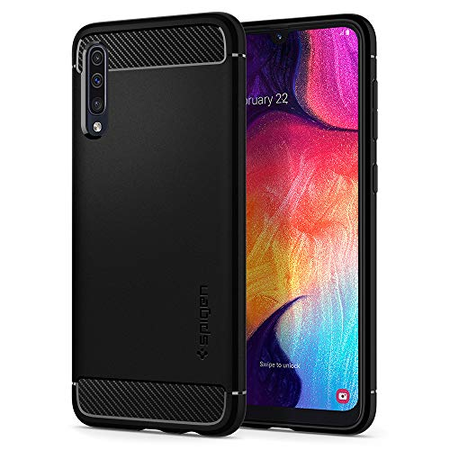 Spigen Cover Samsung Galaxy A50 Rugged Armor per Galaxy A50 Cover, TPU Design in Fibra di Carbonio Originale Custodia per Samsung Galaxy A50 / A50S /