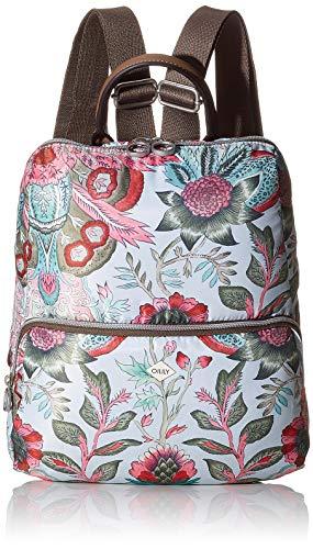 Oilily Damen Picnic Backpack Mvz Rucksack, Grau (lightgrey), 8x32x27 cm