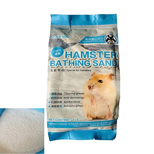 PIVBY Hamster Bathing Sand Tiny Friends Farm Chinchilla Dust Bathing Sand Toys for Bunny Rabbits Guinea Pigs Gerbils(2LB)