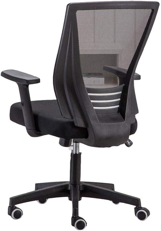 FENGFAN Bürodrehstuhl Mesh Schreibtischstühle Lordosenstütze Personal Stuhl Hhenverstellbar Computer Stuhl (Farbe   Schwarz)