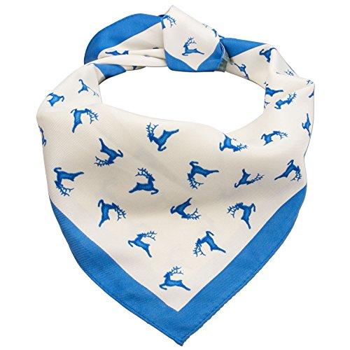 Alpenflüstern Trachten-Nickituch Springende Hirsche blau ATX037