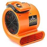 Dryser Air Mover Carpet Dryer 2 Speed 1/2 HP Industrial Floor Fan - Orange Carpet Drying Fan Floor Blower