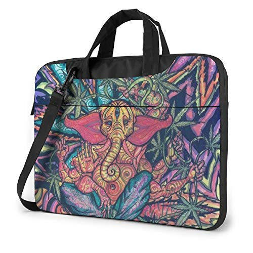 Laptop Bag 15.6 Inch Laptop Sleeve Case with Shoulder Straps & Handle/Notebook Computer Case Briefcase Compatible with MacBook/Acer/Asus/Hp - Marijuana Weed Leaf (35)