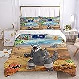 1 funda de edredón + 2 fundas de almohada juego de cama Pokémon (200 x 228 cm+50 x 75 cm x 2)