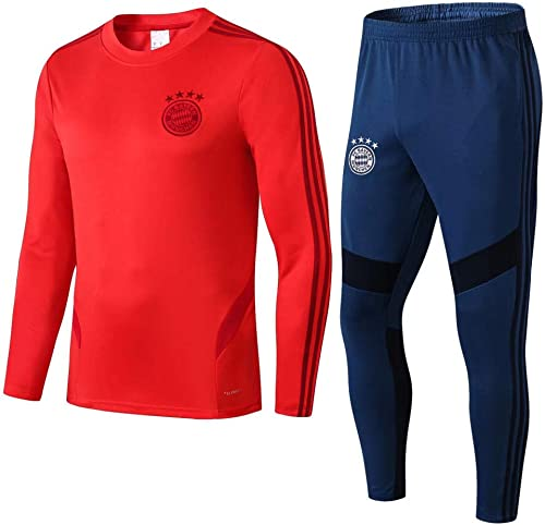 Chandail à Manches Longues et Pantalons de survêteHommest de Football Costume de Formation de Sport vêteHommest de Sport col Rond