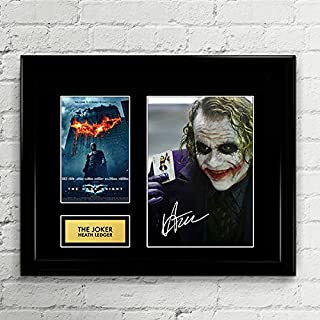 Heath Ledger The Joker Dark Knight Signed Autographed Photo Mat Custom Framed 11 x 14 Replica Reprint Rp