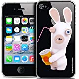 Soda Raving Rabbids Ultra Thin Case Cover for Apple iPhone 4/4S