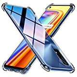 Peakally Funda Realme 7 Carcasa, Realme 7 Funda Silicona TPU Suave Ultrafino Smartphone Case [Anti-Caida y Resistente a arañazos] - Transparente