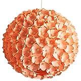 Peach Pearlflower, Ø 32cm, pfirsichfarbene Papierlampe Hängelampe Lampe Lampenschirm Pendellampe...